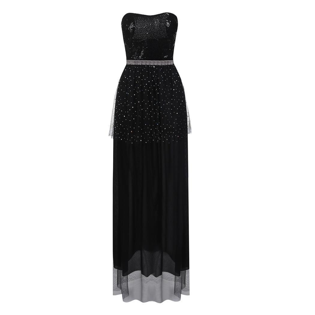 cf8f7d98b2 Black Strapless Sequins Cocktail Evening Dress   cndirect.com